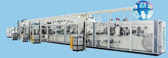 производственная линия гигиенических прокладок
